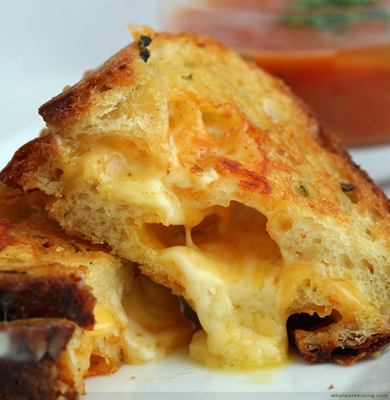 a gooey grilled cheese  Gooey Grilled Cheese