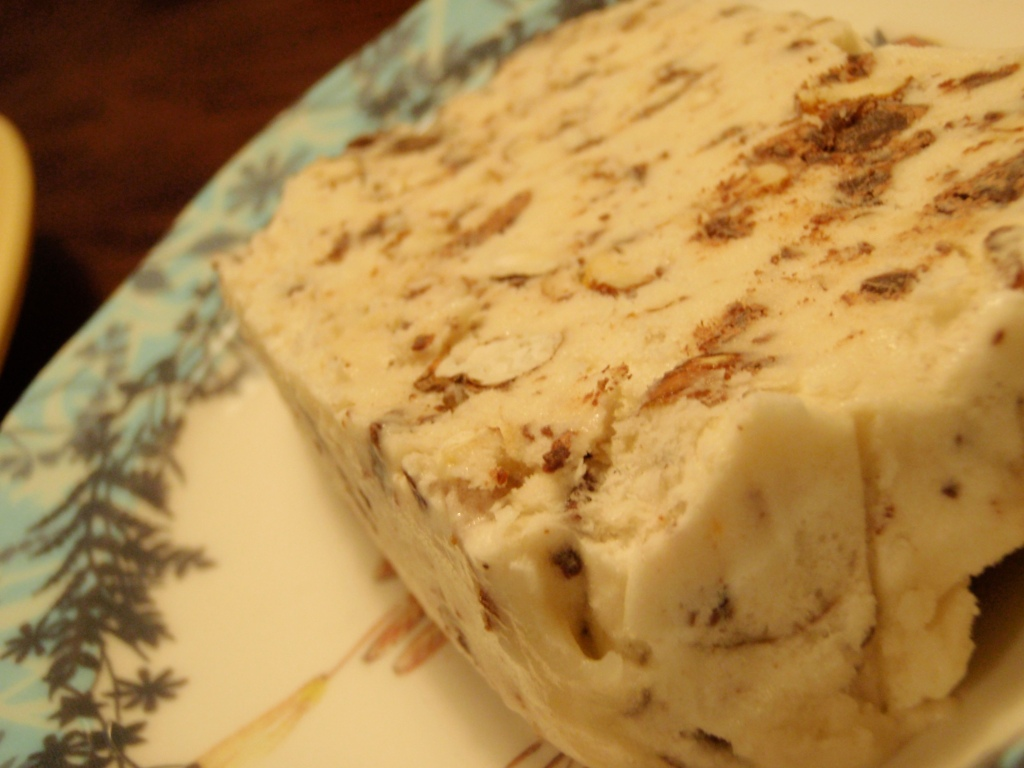 torrone semifreddo - pearls on a string