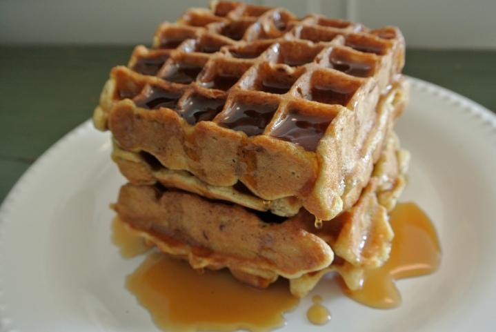 eggnog waffles